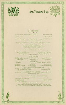 Princess Hotel, St. Patrick's Day (lunch)