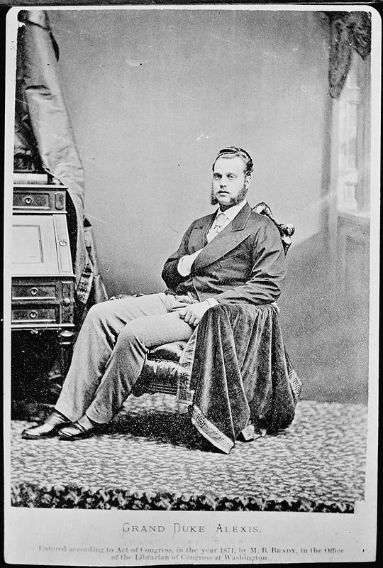 Portrait of Grand Duke Alexis by Matthew Brady