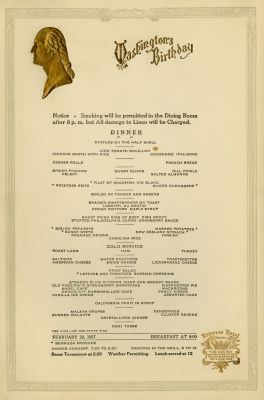 Princess Hotel, Washington's Birthday (1927)