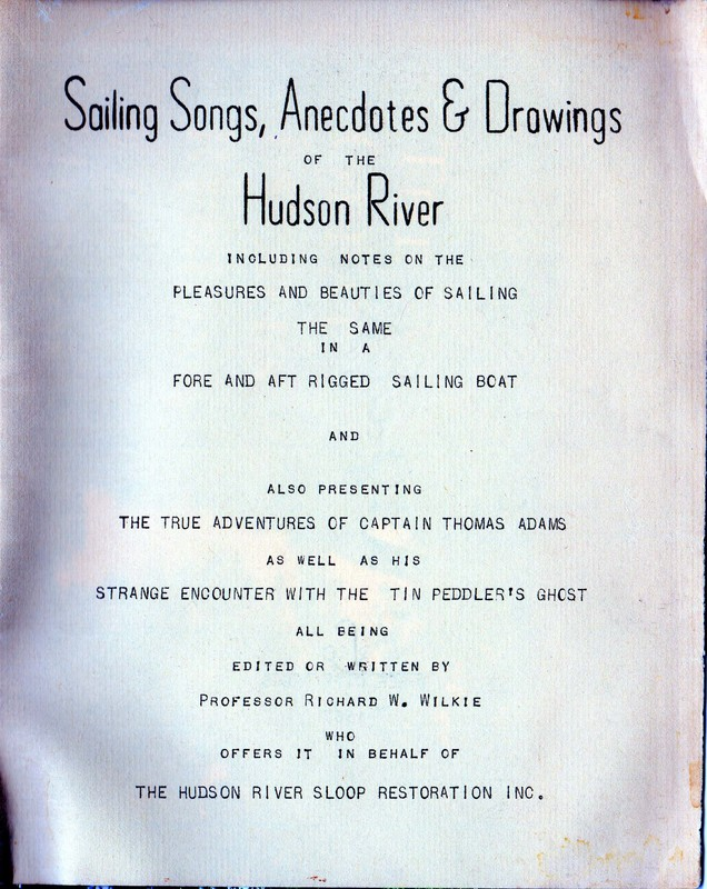 "Cover of Richard Wilke's 1967 ""Sailing Songs"""