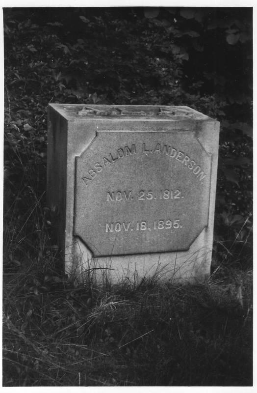 Absalom Anderson headstone.