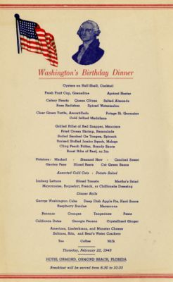 Hotel Ormond, Washington's Birthday