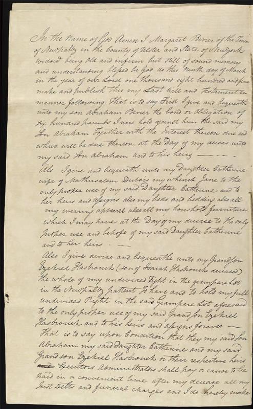 Will of Margaret Bevier of 1806_2.jpg