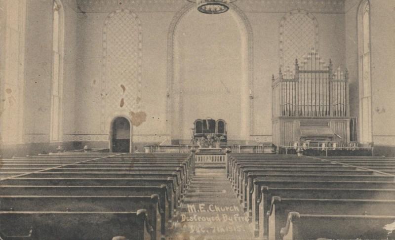 Interior of Old Marlboro Methodist Church
