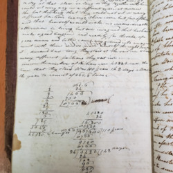 Ciphering book, John Bogardus. Mathematical word problem.