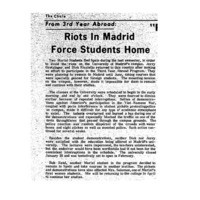 """Riots In Madrid Force Students Home"" 1968 FEB 15"