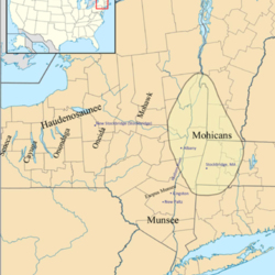 Map of Mohican territory