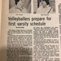 &quot;Volleyballers prepare for first Varsity Schedule,&quot; <br /><br />