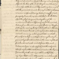 Will of Samuel Bevier, 1750
