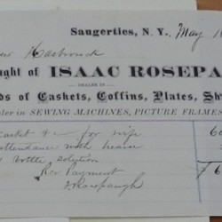 Receipt for 1875 funeral expenses