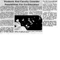 """Students And Faculty Consider Possibilities For Co-Education"" 1968 FEB 6"