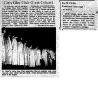 """Girls Glee Club Gives Concert"" 1967 APR 8"
