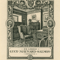 Lucy Maynard Salmon personal bookplate